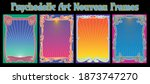psychedelic art nouveau frames  ...   Shutterstock .eps vector #1873747270