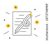 creative writing  storytelling  ... | Shutterstock .eps vector #1873748989