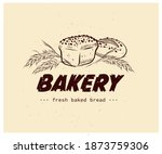 bakery house logo design with... | Shutterstock .eps vector #1873759306