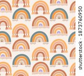 cute kids seamless pattern with ... | Shutterstock .eps vector #1873760950