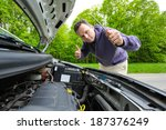 driver showing thumb up after... | Shutterstock . vector #187376249