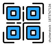 qr code icon vector...