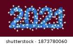glowing festive garland text... | Shutterstock . vector #1873780060