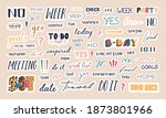 collection of trendy lettering... | Shutterstock .eps vector #1873801966