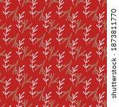 red winter pattern in modern... | Shutterstock .eps vector #1873811770