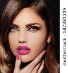 high fashion look.glamor... | Shutterstock . vector #187381319
