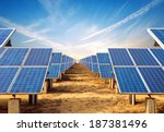 in the evening  when the solar... | Shutterstock . vector #187381496