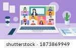 online school class. student...   Shutterstock .eps vector #1873869949