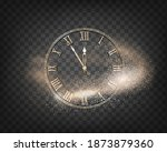 round new year clock with a... | Shutterstock .eps vector #1873879360