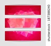 abstract pink triangular... | Shutterstock .eps vector #187388240