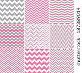 Pink   Grey Chevron Seamless...