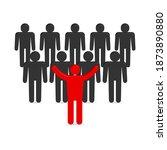 set of stick figures. leader... | Shutterstock . vector #1873890880