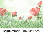 Watercolor Frame Of Tulips ...