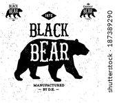 Vintage Label Bear   T Shirt...
