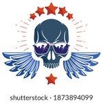 skull in sunglasses and hat ... | Shutterstock .eps vector #1873894099