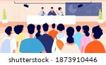 press conference. business... | Shutterstock .eps vector #1873910446
