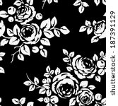 seamless vintage pattern with... | Shutterstock .eps vector #187391129