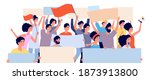 protest demonstration. politic... | Shutterstock .eps vector #1873913800