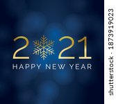 2021 happy near year square... | Shutterstock .eps vector #1873919023