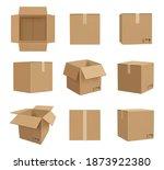 cardboard boxes. deliver craft...   Shutterstock .eps vector #1873922380