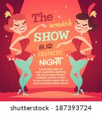 Cabaret Ladies Poster. Vector...