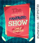 Circus Show Poster. Vector...