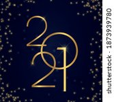 2021 new year elegant design.... | Shutterstock .eps vector #1873939780