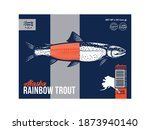 vector trout packaging or label ... | Shutterstock .eps vector #1873940140