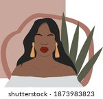 abstract woman  black skin.... | Shutterstock .eps vector #1873983823
