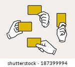 hands holding card   Shutterstock .eps vector #187399994