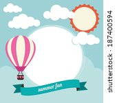 hot air balloon with text box | Shutterstock .eps vector #187400594