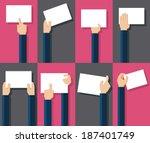 vector illustration of hands... | Shutterstock .eps vector #187401749