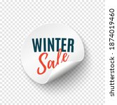 winter sale round banner. price ... | Shutterstock .eps vector #1874019460