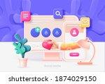 social media marketing.... | Shutterstock .eps vector #1874029150