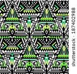 geometric seamless pattern | Shutterstock .eps vector #187402988