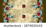 digital saree textile design... | Shutterstock . vector #1874033143