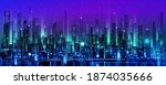 city background with... | Shutterstock .eps vector #1874035666
