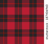 Red tartan plaid seamless pattern  - stock vector