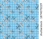 sarong motif with grid pattern. ... | Shutterstock .eps vector #1874070229