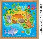 australian map theme image 2  ...   Shutterstock .eps vector #187408304