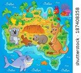 australian map theme image 1  ...   Shutterstock .eps vector #187408358