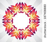 spring frame of colorful...   Shutterstock .eps vector #187408880