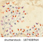 floral background on paper... | Shutterstock .eps vector #187408964