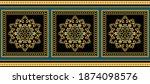golden decorative baroque... | Shutterstock .eps vector #1874098576