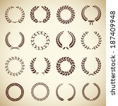 collection of sixteen circular... | Shutterstock . vector #187409948