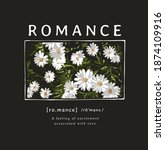 romance slogan with daisy... | Shutterstock .eps vector #1874109916