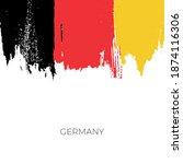 germany colorful brush strokes... | Shutterstock .eps vector #1874116306