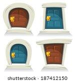Doors Set  Illustration Of A...