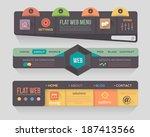 flat dark style vector header... | Shutterstock .eps vector #187413566