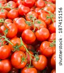 Tasty Ripe Vine Tomatoes On A...